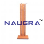 Glass Manometer Tube Mounted On Clear Laboratory Equipments Supplies