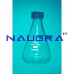 Flask Conical With Screw Cap Laboratory Equipments Supplies