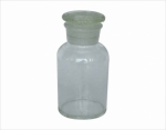Reagent bottle wide mouth, with ground-in glass stopper or plastic stopper