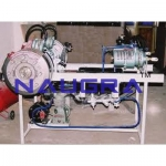 Sectional Working Model Of 4 Stroke Petrol Engine- Engineering Lab Training Systems