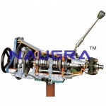 Gearbox with Clutch (4 Forward Gears and Reverse)- Engineering Lab Training Systems