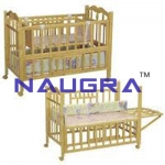 Infant Bed Child Cot, Epoxy Coated Steel