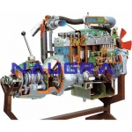 Truck Turbo Diesel Engine with Intercooler and Gearbox- Engineering Lab Training Systems